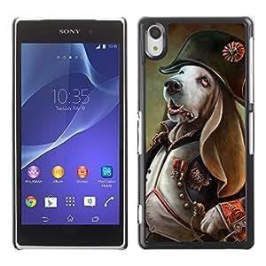 iKiki-Tech Estuche rígido para Sony Xperia Z2 L50W - Funny Dog General