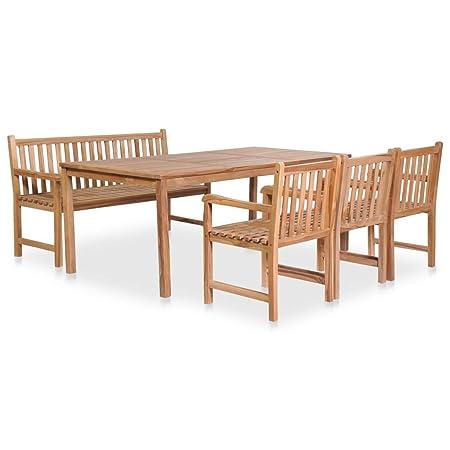 Tidyard - Juego de Mesa de jardín de 5 Piezas | Muebles de Comedor ...