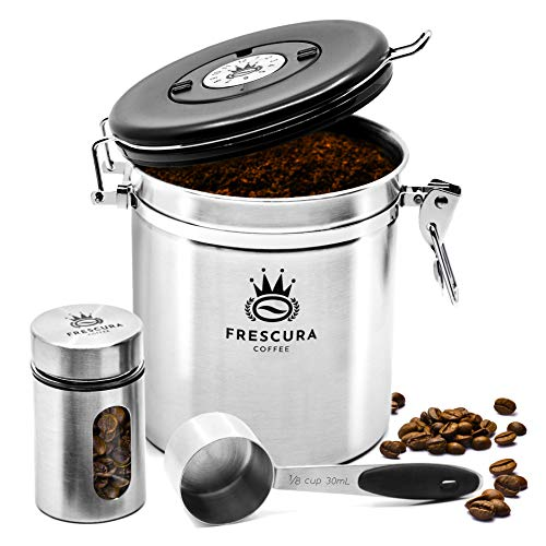Frescura Coffee Airtight Coffee Canister Storage Container | Keep Ground