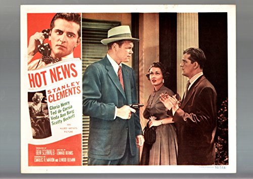 Hot News Lobby Card 1953 Allied Artists Gloria Henry Vf