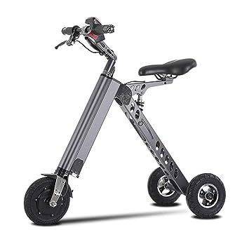 JL-Q Bicicletas eléctricas de Tres Ruedas de Las Mujeres vehículo eléctrico Smart Balance Car K-Fold Bicicleta eléctrica Adulta Scooter Unisex: Amazon.es: ...