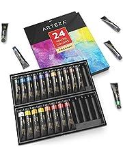 ARTEZA Tubos de acuarela líquida de calidad | 24 colores de acuarela | Tubos de 11,8ml | Kit de iniciación para pintar acuarelas