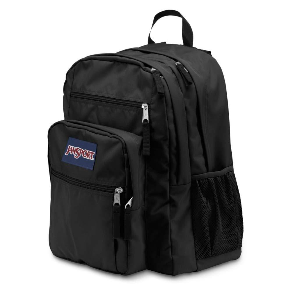 JanSport Big Student Backpack 34 L Bundle with a Lumintrail Memo Pad Black