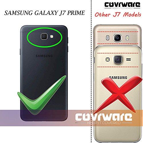 Samsung Galaxy J7 Prime/J7 Sky Pro/J7 Perx/J7 V 2017/J7 2017 Case, COVRWARE [Aegis Series] w/Built-in [Screen Protector] Heavy Duty Full-Body Rugged Holster Armor Cover [Belt Clip][Kickstand], Black by COVRWARE (Image #1)