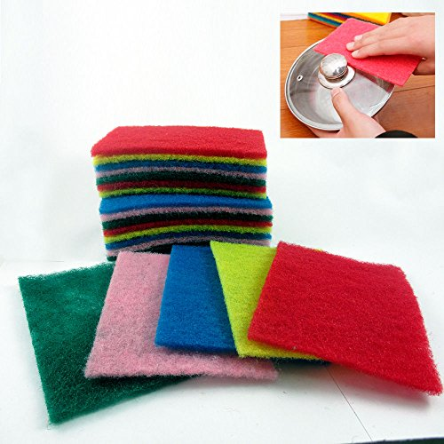 20 PCs Multiple Use Pads Medium Duty Kitchen Pot Pan Dish Glass Scour Scrub Cleaning Brush (Pearson Travel Brush Mason)