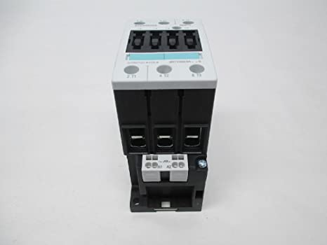 Siemens 3RT10 46-3AK60 Motor Contactor 3 Poles Spring Loaded Terminals S3 Frame Size 120V at 60Hz and 110V at 50Hz AC Coil Voltage 3RT10463AK60