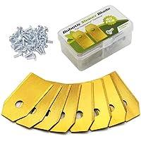 Zueyen 45 stuks titanium messen messen voor robotmaaier, reservemessen voor alle Husqvarna Automower Gardena…