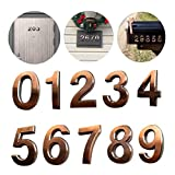 10 Pack Self Stick House Numbers 0 to 9 Address Sign Solid Stickers for Mailbox Apartment Hotel Door 2.75 inch High Bronze & Silver (10 Pack 0-9 2.75', Bronze)