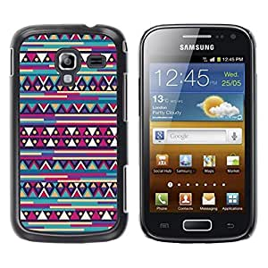 FECELL CITY // Duro Aluminio Pegatina PC Caso decorativo Funda Carcasa de Protección para Samsung Galaxy Ace 2 I8160 Ace II X S7560M // Inca Aztec Pattern Retro