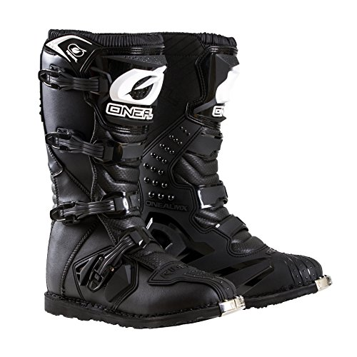 Leather Racing Boots - O'Neal Men's New Logo Rider Boot (Black, Size 12)