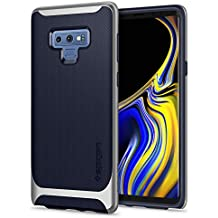 Spigen Neo Hybrid Galaxy Note 9 Case with Herringbone Flexible Inner Protection and Reinforced Hard Bumper Frame for Galaxy Note 9 (2018) - Arctic Silver