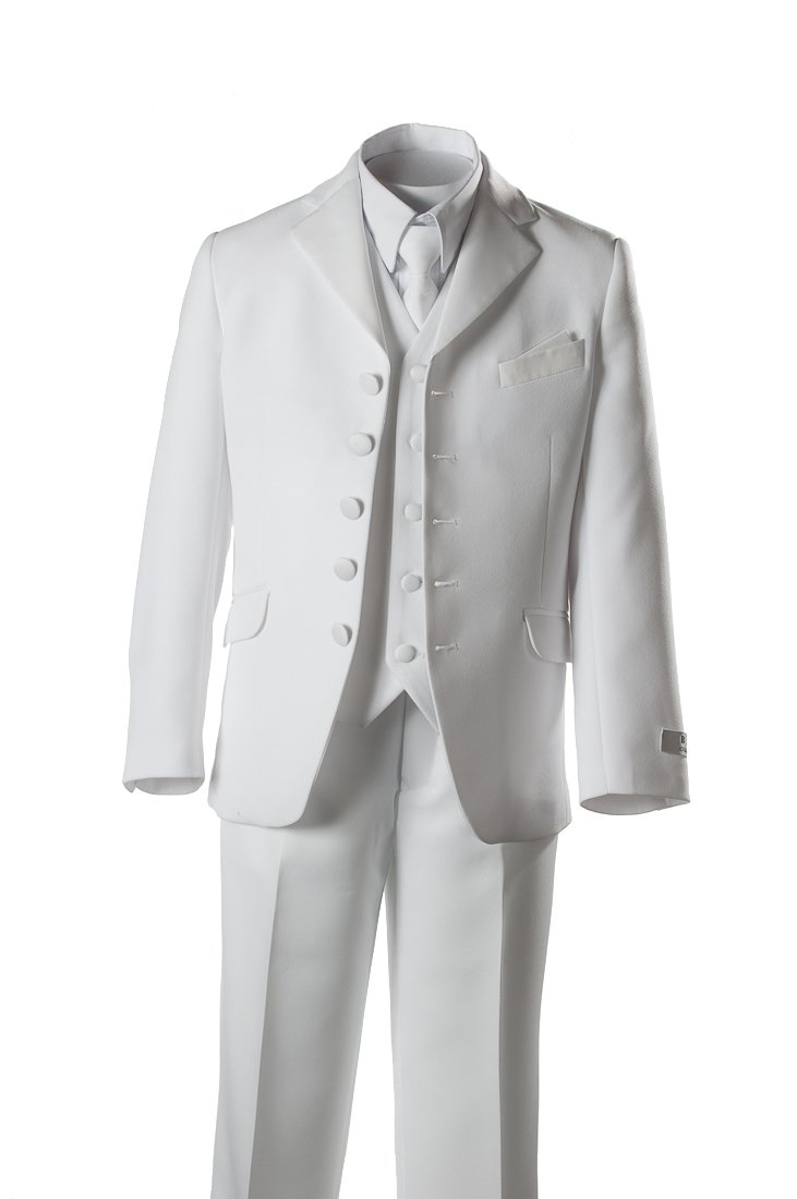 Boys 5 Button First Holy Communion Suit - White (Boys 14)