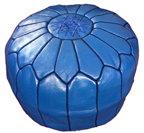 Moroccan Hand Made pouf leather luxury ottomans footstools cover by Moroccan Poofs