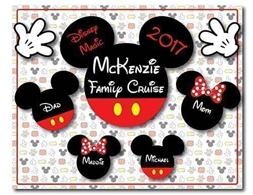 Disney Inspired RECTANGLE 8 x 10 Classic Mickey and Minnie Magnet for Disney Cruise