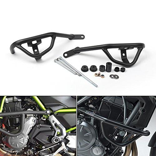 - Areyourshop Black Crash Bars Engine Guard Frame Protector For Kawasaki Z650 2017