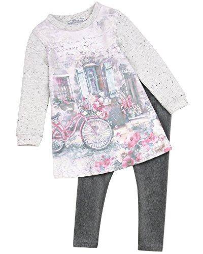 Velour Dress Jumper (Mayoral Girl's Sweatshirt Dress and Velour Leggings, Size 9)