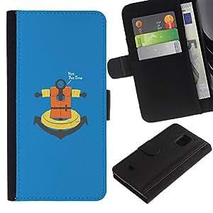 JackGot ( No esta vez ancla ) Samsung Galaxy S5 Mini (Not S5), SM-G800 la tarjeta de Crédito Slots PU Funda de cuero Monedero caso cubierta de piel