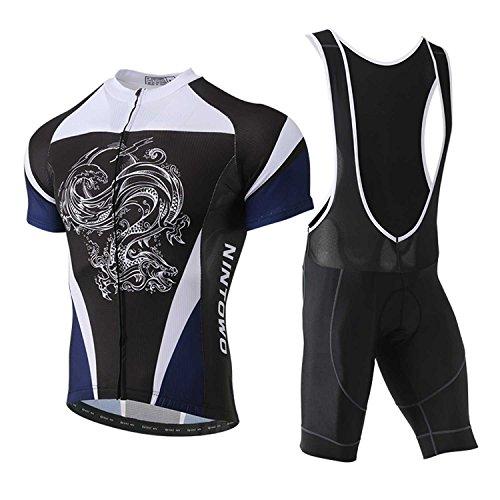 (TeyxoCo 2018 White Dragon Cycling Jersey Short Sleeve Padded Jersey Bid Set)
