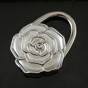 danapp gancho a gancho plegable en forma de rosa plateado plata 1