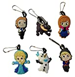 Frozen Snap Hook Zipper Pulls 6 Pcs Set #3