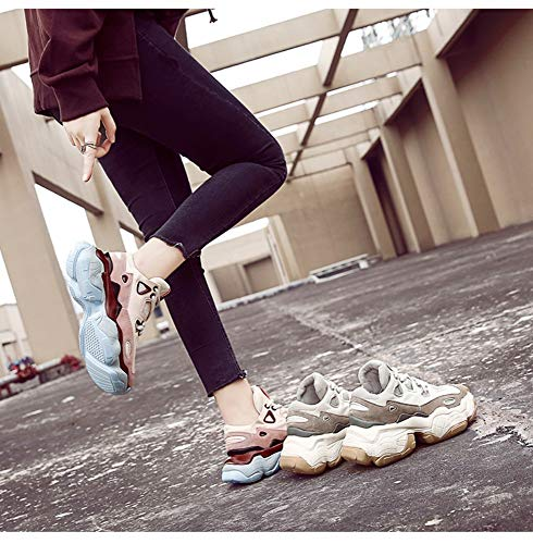 Grueso Zhijinli Inferior 6size Respirable Resorte 8 De Tamaño Salvaje Calzado Mujer Casual Deportivo BOq80Bx
