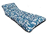 New Deluxe Thick Replacement Garden Patio Sun Bed Lounger Cushion Ashley Blue