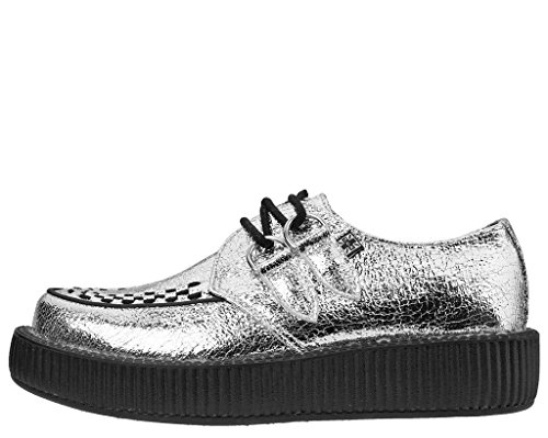 T EU37 K Silver Low Crackle Viva U Women's UKW4 Creeper Shoes rFqrx1