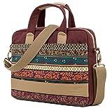 Kinmac New Design laptop shoulder messenger bag (11 inch & 12 inch & 13 inch, New Bohemian-Wine Red)