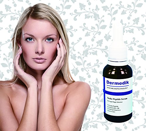 Dermedik 7% Snake Peptide + 6% Vitamin B3 B5 + 3% Retinol Vitamin A + Vitamin E & C Serum 1oz/30ml Cellular Energy Radiance Cream