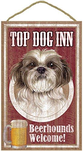 "(SJT27967) Shih Tzu (puppy cut) , Top Dog Inn 10"" x 16"" w..."