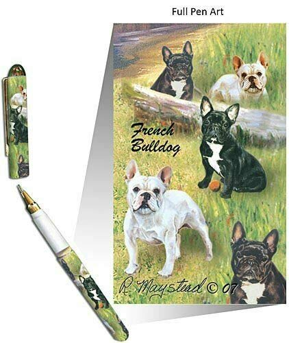 New French Bulldog Pet Dog Designer Pen - 50 Pens - Bulldogs By Ruth Maystead (Wholesale Price)