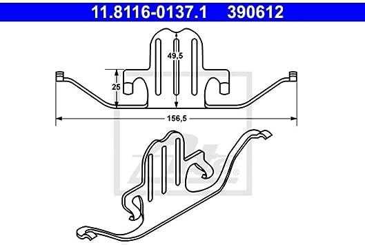 Feder Bremssattel ATE 11.8116-0066.1