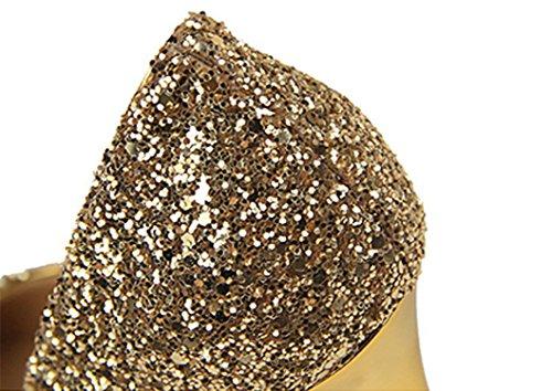 Webb Kengät Kultaa Pumppu Stiletto Korkokenkiä Naisten Glitter Teräväkärkiset Mekko Perkin 1rZqOwIp1