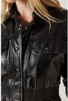d85886ea2 Camisa Couro Jacket Bolso Preto - 34: Amazon.com.br: Amazon Moda