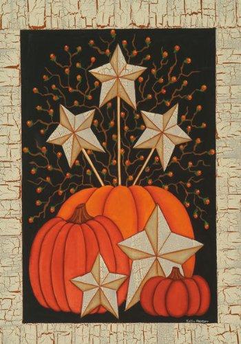 Starburst Pumpkins – 28 Inch X 40 Inch Large Decorative Flag For Sale