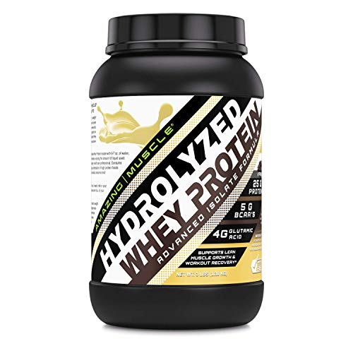 Amazing Muscle Ultra Pure Hydrolyzed Whey Protein Isolate * Supports Lean Muscle Growth Rapid Recovery Vanilla
