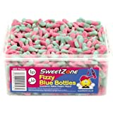 SweetZone 100% Halal Jelly Sweets - Fizzy Blue Bottles Tub of 600pcs