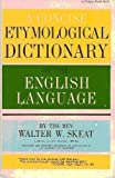 Concise Etymological Dictionary of the English Language, Walter W. Skeat, 0399500499