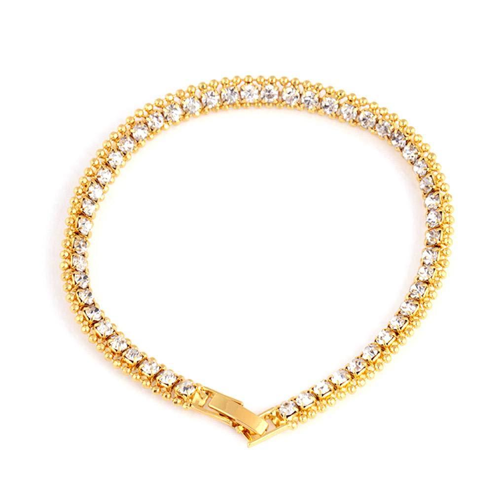 Gloden Silver Hip-hop Wheat Bracelet Round Chain Twist Wristband Copper Band Men Hand Jewelry Miaomiaogo