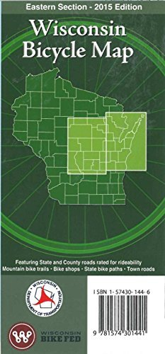 Wisconsin Bicycle Map: Eastern Section - 2010 Edition