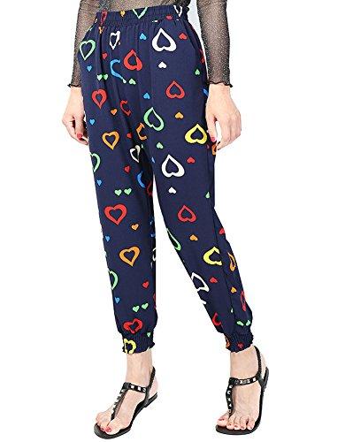 Mujer Pantalones Harem Aladin Baggy de los bloomers de pantalones harén pantalones de verano estampado floral 6