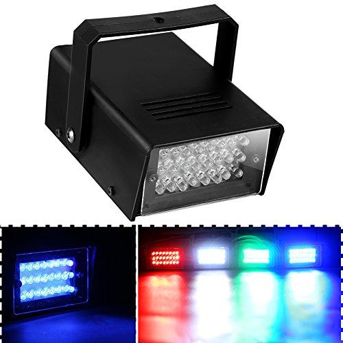ONEDONE Mini 24 LED Bühnenbeleuchtung Bühnenlicht Wirkung Stroboskop Licht Beleuchtung für Disco Club Party (blau)