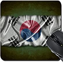 MSD Suqare Mousepad 8x8 Inch Mouse Pads/Mat design 19790733 Illustration with a vintage South Korea flag on green background