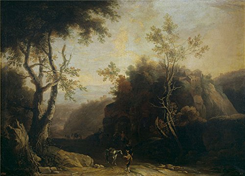 Oil Painting 'Spierinckx Pieter Paisaje Con Ventorrillo Y Acueducto Romano' 30 x 42 inch / 76 x 106 cm , on High Definition HD canvas prints is for Gifts And - Target Niles Hours