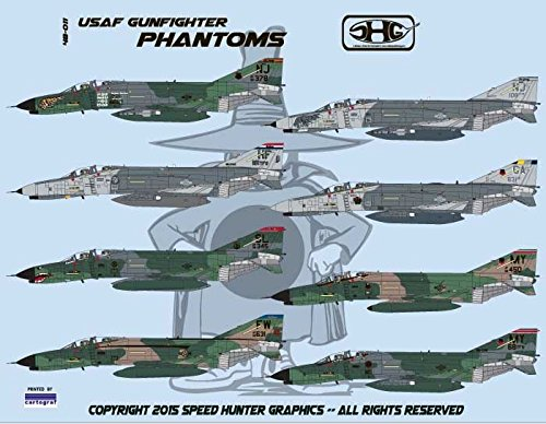 RAPSH48009 1:48 Speed Hunter Graphics - F-4G Phantom II 'SEAD Specialists: F-4G Wild Weasel Phantoms, Part I [WATERSLIDE DECAL SHEET]