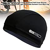 windowew Black Bicycle Riding Outdoor Small Hat Motorcycle Helmet Inner Cover Sunproof Half Cover Light Breathable Summer Cool Skull Cap 2019