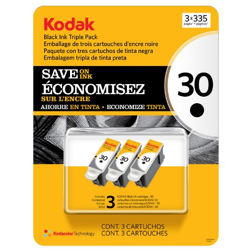 Kodak 30 Series Black Ink Cartridge - 3 Pack