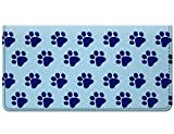 Snaptotes Blue Paw Print Design Checkbook Cover