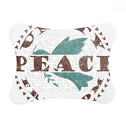 Olive Branch Peace Freedom Symbol Paper Card Puzzle Frame Jigsaw Game Home Decoration (Olive Branch Peace)
