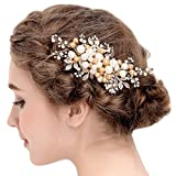 Vintage Gold Ivory Hair Clips Rhinestones Simulated Pearls Wedding Hair Accessories